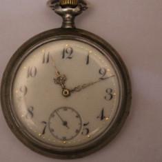 CEAS DE BUZUNAR-SWISS MADE-(OMEGA)-SCRIE PE CAPACE, D=5, 3, CLIBRU-477 /DEPOSE - Ceas de buzunar vechi