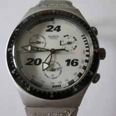 CEAS SWATCH CRONOGRAPH ALUMINIU-CUREA RUPTA-PRET REDUS! - Ceas barbatesc Swatch, Sport, Quartz, Cronograf, Analog, 1970 - 1999