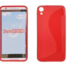 Husa HTC Desire 820 TPU S-LINE Red - Husa Telefon HTC, Rosu, Gel TPU, Fara snur, Carcasa