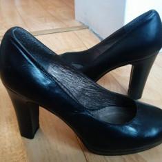 Pantofi din piele firma BATA marimea 38, sunt noi! - Pantof dama Gabor, Culoare: Negru, Piele naturala