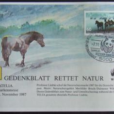 GERMANIA 1987 - FAUNA WWF 1 S/S SPECIALA, OBLITERATA CU TIMBRU - EO 292