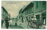 1163 - Hunedoara, ORASTIE, cart, stores - old postcard - used -1915, Circulata, Printata