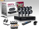 Sistem Supraveghere Video 8 camere complet DVR internet full D1 960H HDMI romana