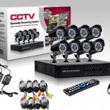 Sistem Supraveghere Video 8 camere complet DVR internet full D1 960H HDMI romana - Camera CCTV, Exterior, Cu fir, Digital, Color, Box/Body