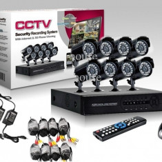 Sistem Supraveghere Video 8 camere complet DVR internet full D1 960H HDMI romana - Camera CCTV, Exterior, Cu fir, Digital, Color, Box/Body