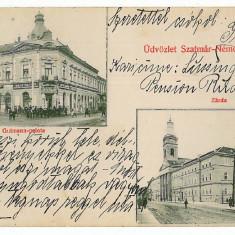 769 - SATU-MARE, store - old postcard - used - 1913 - Carte Postala Maramures 1904-1918, Circulata, Printata