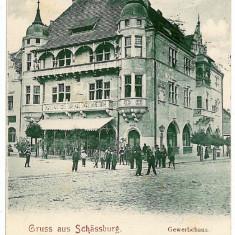 33 - Mures, SIGHISOARA, Bank - old postcard - used - 1903 - Carte Postala Transilvania pana la 1904, Circulata, Printata