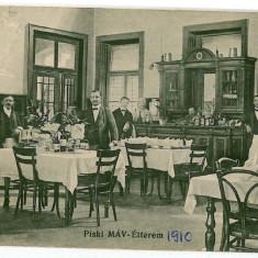 1121 - Hunedoara, SIMERIA, Restaurantul - old postcard - used - 1912 - Carte Postala Transilvania 1904-1918, Circulata, Printata