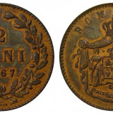 Romania - 2 Bani 1867 Heaton UNC - Piesa de Colectie ! - Moneda Romania