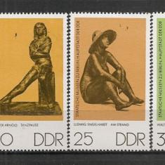 D.D.R.1976 Muzeul de Stat Berlin-Statuete de bronz CD.1047 - Timbre straine, Nestampilat