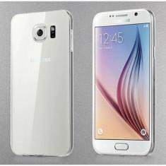 Husa ultra subtire soft silicon CLEAR Samsung Galaxy S6 EDGE + folie CURBATA - Husa Telefon Samsung, Transparent, Carcasa
