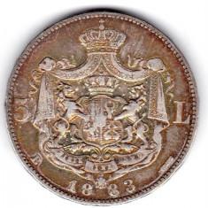 5 LEI 1883 CU ROMB STARE FOARTE FOARTE BUNA - Moneda Romania, An: 2015