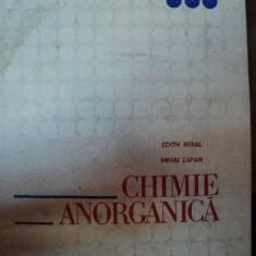 CHIMIE ANORGANICA, EDITIA A 4-A-E.BERAL, M.ZAPAN, BUC.1977 - Carte Chimie