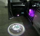 NOU ! Holograme WIRELESS Skoda fara gaura in portiera! Auto fabia octavia