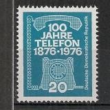 D.D.R.1976 100 ani telefonul CD.1039 - Timbre straine, Nestampilat