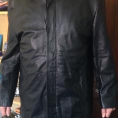 Haina din piele barbateasca mas.56 - Geaca barbati, Culoare: Negru