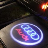 NOU ! Holograme WIRELESS AUDI fara gaura in portiera ! tunning A4 A6 A8 etc.