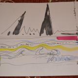 Acasandrei Aurel, lucrare cerneala si culoare,, COMPULSIUNEA ARTISTICA,, - Pictor roman, An: 2000, Nud, Suprarealism