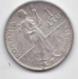 1 LEU 1914  ARGINT  CU MUCHIE ROTUNJITA STARE FOARTE FOARTE BUNA