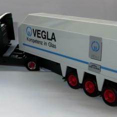 Herpa Scania Hauber 124L transport sticla Vegla  1:87