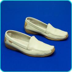 Pantofi / balerini din piele, usori, comozi, calitate GREENFIELD _ femei | nr 40 - Mocasini dama, Culoare: Bej, Piele naturala