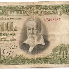 SPANIA 1000 PESETAS 1951 F - bancnota europa