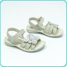 DE CALITATE → Sandale DIN PIELE, comode, aerisite, ELEFANTEN → fetite | nr. 27 - Sandale copii Elefanten, Culoare: Bej, Fete, Piele naturala