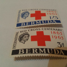 Anglia/colonii/bermuda 1963 crucea rosie/serie MNH - Timbre straine, Nestampilat