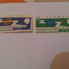 Anglia/colonii/bermuda 1965 ITU/serie MNH - Timbre straine, Nestampilat