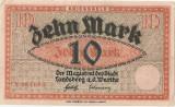 GERMANIA NOTGELD Landsberg Warthe 10 MARK 1914 AUNC