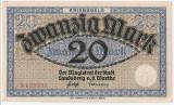 GERMANIA NOTGELD Landsberg Warthe 20 MARK 1914 AUNC