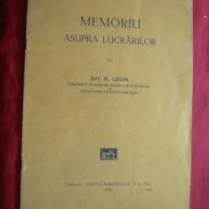 Gh.N.Leon - Memoriu Lucrarilor lui Gh.N.Leon- Prof. Facultatea Drept Cluj 1930 - Carte Drept financiar