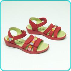 DE CALITATE → Sandale din piele, FRUMOASE, aerisite, HUSH PUPPIES → fete | nr 33 - Sandale copii Hush Puppies, Culoare: Rosu, Piele naturala