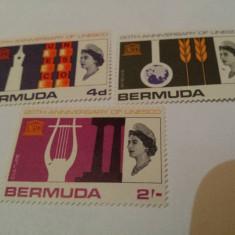 Anglia/colonii/bermuda 1966 UNESCO/serie MNH - Timbre straine, Nestampilat