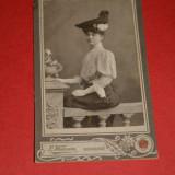 Regatul Romaniei , anii 1900 ,WAISMAN ,BUCURESCI , frumoasa doamna ,Belle Epoque