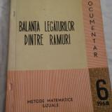 Balanta legaturilor dintre ramuri. Metode uzuale - Nr. 6, 1968