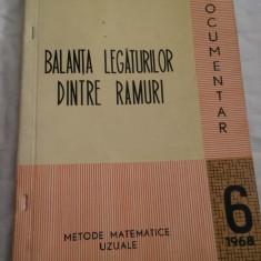 Balanta legaturilor dintre ramuri. Metode uzuale - Nr. 6, 1968 - Carte Economie Politica