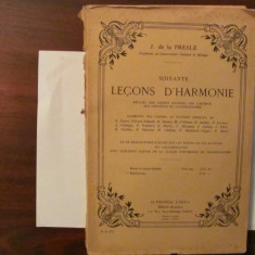 PVM - J. de la PRESLE 60 Lectii de Armonie  in limba franceza