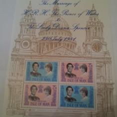 Anglia/man 1981 nunta regala/colita MNH - Timbre straine, Nestampilat