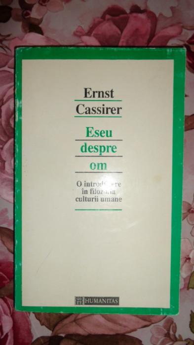 Eseu despre om an 1994/315 pagini- Ernst Cassirer foto mare