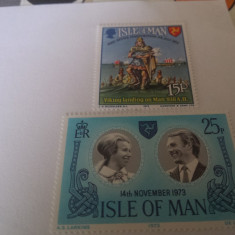 Anglia/man 1973/2 serii MNH - Timbre straine, Nestampilat