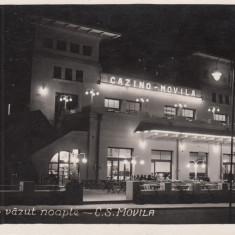 TECHIRGHIOL CASINO VAZUT NOAPTE -C.S.MOVILA - Carte Postala Dobrogea dupa 1918, Necirculata, Printata