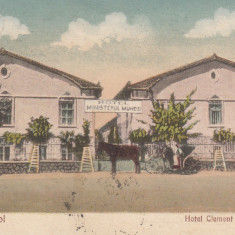 DOBROGEA TECHIRGHIOL HOTEL CLEMENT POPESCU HOTEL MINISTERUL MUNCEI CIRC.1927 - Carte Postala Dobrogea dupa 1918, Circulata, Printata