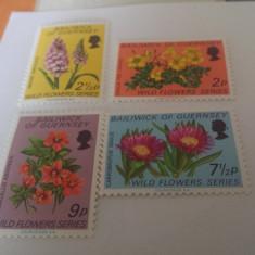 Anglia/guernsey flora/serie MNH - Timbre straine, Nestampilat