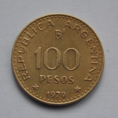 100 PESOS 1979 ARGENTINA, America Centrala si de Sud