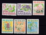 Liberia  1955  flori   MI  477-482     MNH  w28