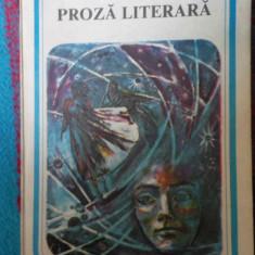 Mihai  eminescu proza literara
