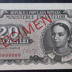 Romania 20 lei 1950 Specimen Rara - Bancnota romaneasca