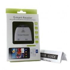 4in1 cititor de carduri + usb OTG pentru telefoane si tablete cu Micro USB