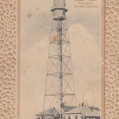 TECHIRGIOL, FARUL DE LA MAREA NEAGRA''TUZLA'' 70 METRI INALTIME CIRC. JUN''912 - Carte Postala Dobrogea 1904-1918, Circulata, Printata, Techirghiol